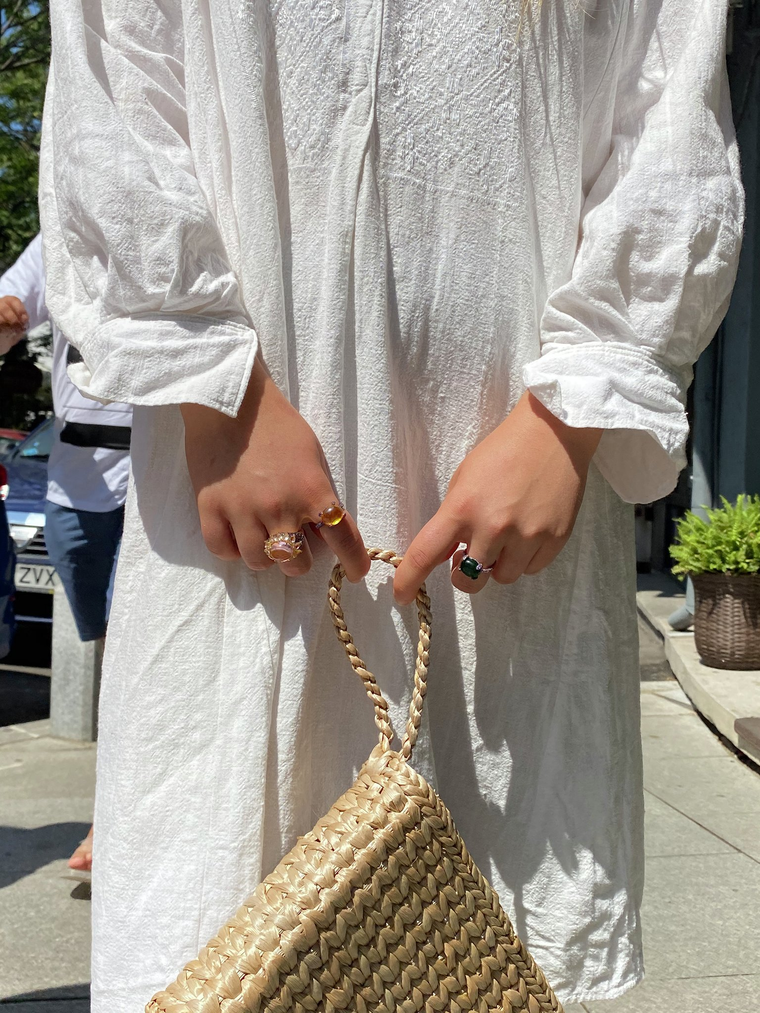 Romanian Vintage peasant linen dress from Mehedinti