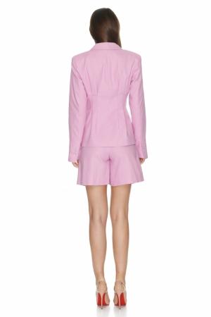 12SKIN Pastel pink cotton blazer