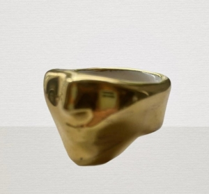 24k Plated Gold Ceramic Ring Blanche Bling Mask
