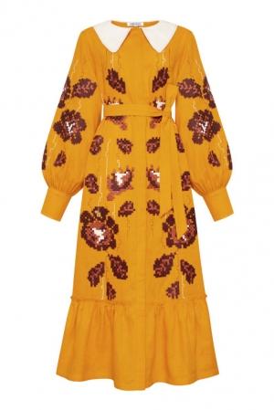 Adele Midi embroidered dress Foberini
