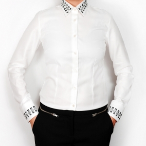 Alisia Enco Romanian motifs business shirt Trifoi OUT OF STOCK