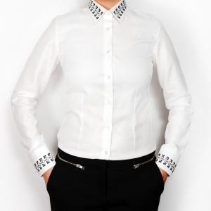Alisia Enco Romanian motifs business shirt Trifoi