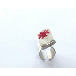 Bird Godess silver ring