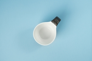 Black Embroidery Motif Coffee Set