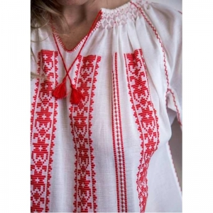Blouse Roumaine Traditional Embroidery SB30000 RED