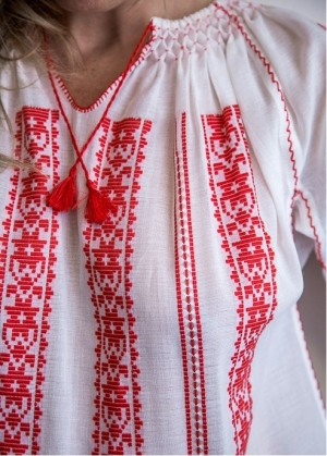 Romanian Traditional Blouse Embroidery woven
