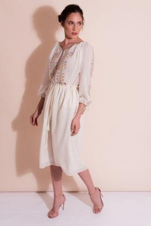 Merin linen Romanian style blouse