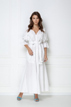 Bohemian white embroidered dress Victory Chic Foberini