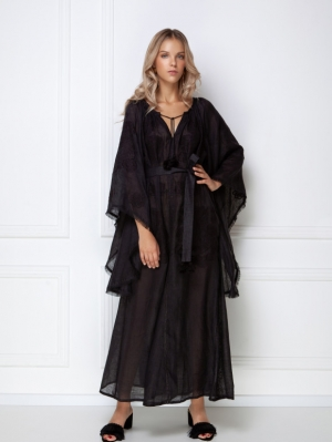 Bohemian black maxi dress Victory Foberini
