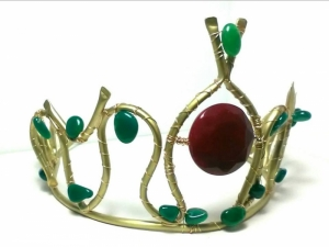 Bohemian handcrafted tiara The Queen