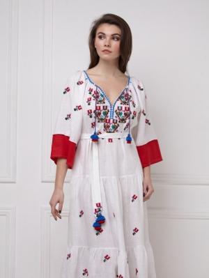 Bohemian Ukrainian inspired Omelia Chic maxi dress Foberini