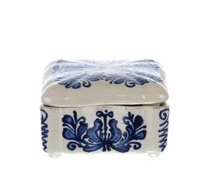 Bomboniera patrata albastra de Corund