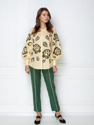 """Camelia"" beige blouse"