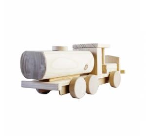 Camion cisterna jucarie din lemn