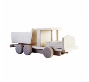 Camion de jucarie din lemn cu remorca