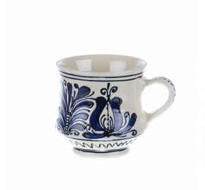 Cana vin / ceai / bere ceramica albastra de Corund 400 ml