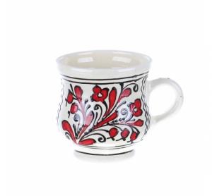 Cana vin / ceai / bere ceramica rosie de Corund 400 ml