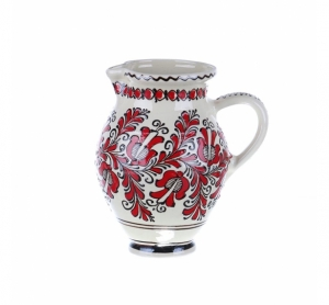 Carafa de vin ceramica rosie de Corund 1,5 l
