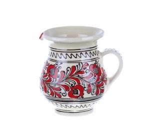 Carafa de vin ceramica rosie de Corund 1 l