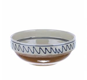 Castron ceramica traditionala albastra de Corund 16 cm Model 2