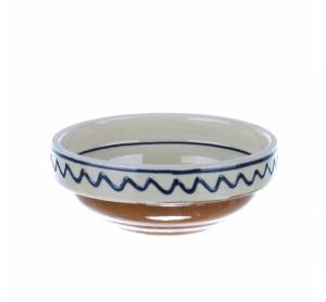 Castronel mic ceramica traditionala albastra de Corund 10 cm