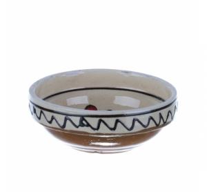Castronel mic ceramica traditionala rosie Corund 10 cm