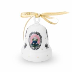 Cat Portait Porcelain Bell