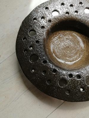 Ceramic Plate Earth Rupture