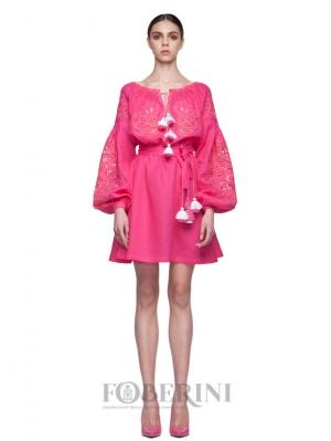 "Dress-embroidery ""Fuchsia"""