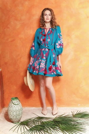 "Dress-embroidery ""Sialia"""