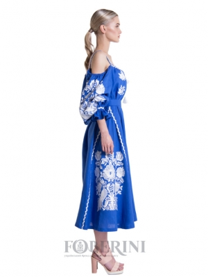 "Dress with open shoulders ""Song of the Nightingale"""