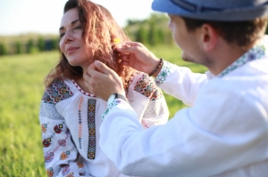Embroidered blouse Moldavian Rose