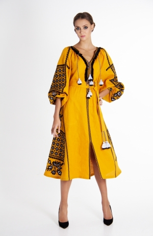 """Embroidered dress """"Gold"""""""