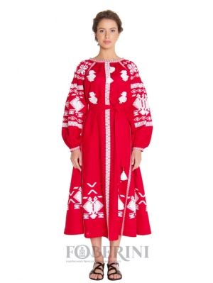 """Embroidered dress """"Red Rue"""""""