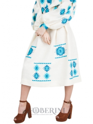 "Embroidered Skirt ""Spring mood"""