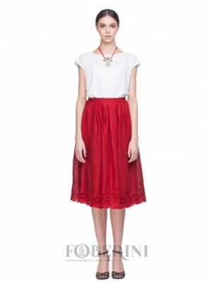 "Embroidered skirt ""Total Red"""