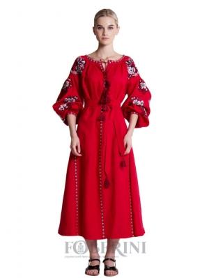 """Embroidery dress """"Flower garden"""""""