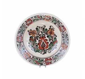 Farfurie adanca ceramica colorata de Corund 21 cm Model 1