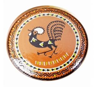 Farfurie Ceramica Horezu Maro Model Cocos 33-37 cm