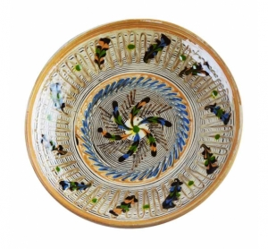 Farfurie Ceramica Horezu Model Floral 21-24 cm
