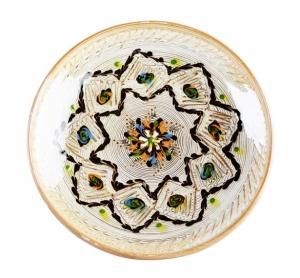 Farfurie Ceramica Horezu Model Floral Incadrat Stea 21-24 cm