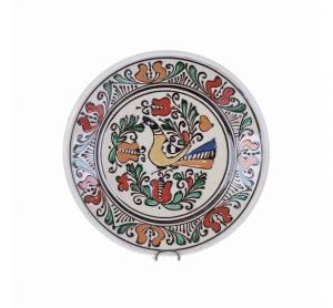 Farfurie traditionala ceramica colorata de Corund 19 cm