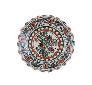 Farfurie traditionala ceramica colorata de Corund 26 cm