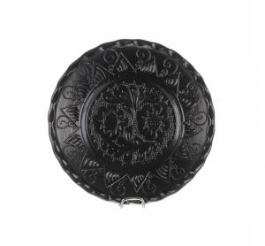 Farfurie traditionala ceramica neagra de Corund 16 cm