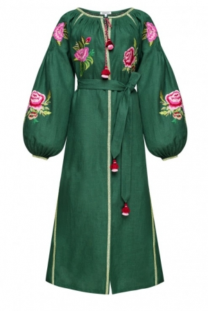 Flora green dress Foberini
