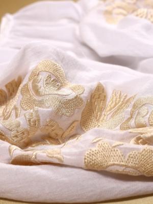 Bluza dama tip ie stilizata cu broderie florala de inspiratie etnica Copacul Vietii Pastel Bej Florii