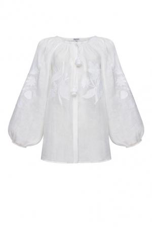 Foberini Eden White Embroidered Blouse