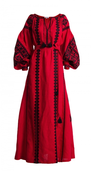 "Foberini Embroidered Red Dress ""Bereginya"""