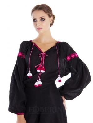 "Foberini Embroidery Blouse ""Dark Peony"""