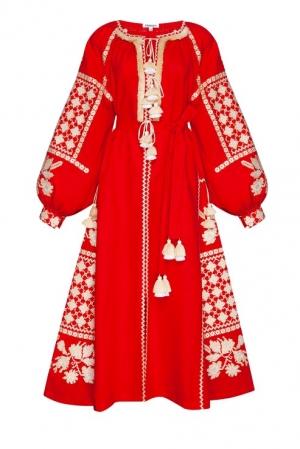 Foberini Gold Red Midi Dress - Pre-Order